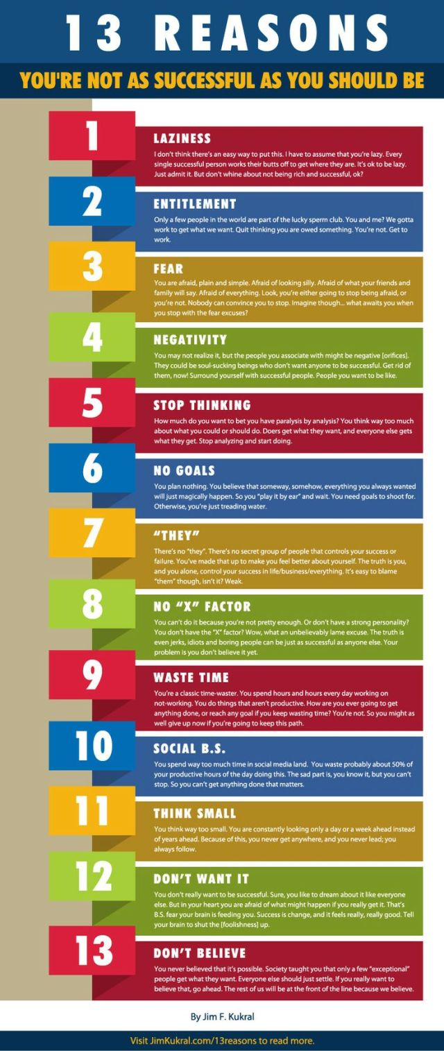 13 Reasons You Are Not Successful