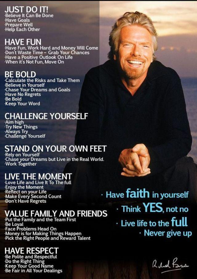 Richard Branson Motivational Poster